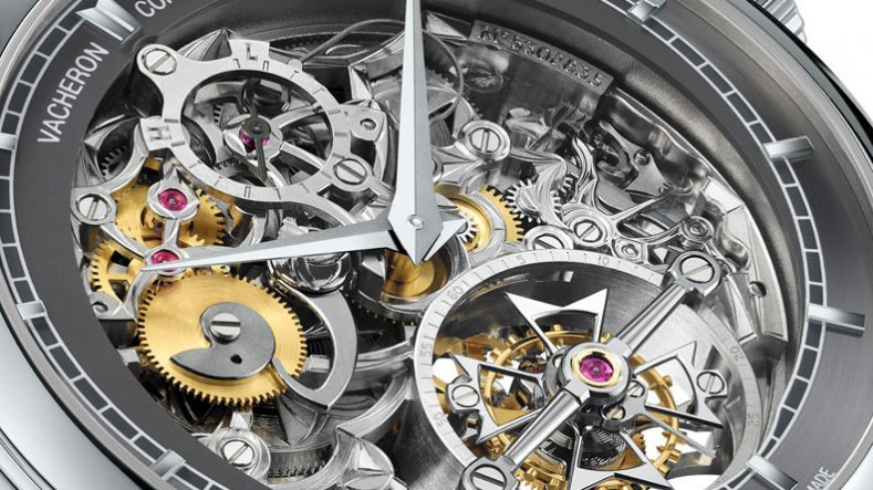 Dial of Vacheron Constantin's Patrimony Traditionnelle 14-day tourbillon openworked