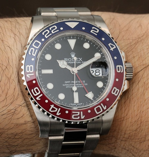 Rolex Replica GMT Master II Red-Blue Bezel