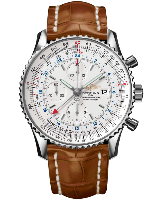 Genuine Breitling Navitimer World GMT Chronograph
