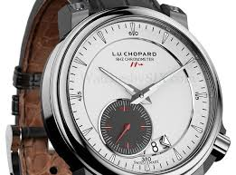 Top quality alligator strap chopard l.u.c 8hf titanium replica watch