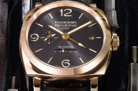 PANERAI RADIOMIR 1940 10 DAYS GMT AUTOMATIC ORO ROSSO